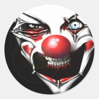 Clown mauvais sticker rond