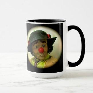 Clown triste las de visage de Willie - noir tasse