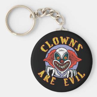 Clows sont porte - clé mauvais porte-clé rond