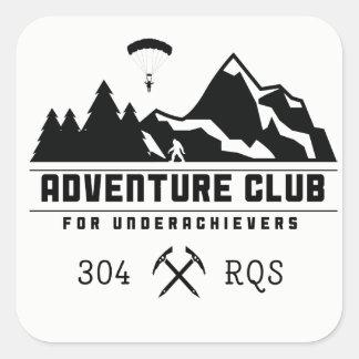 Club d'aventure pour des autocollants
