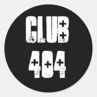 Club de ` 404' autocollant avec la police