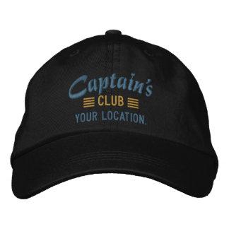 CLUB de capitaine personnalisez-le ! Casquette Chapeaux Brodés