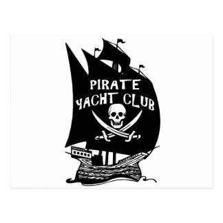 Club de yacht de pirate cartes postales