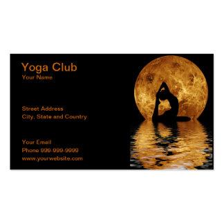club de yoga modèles de cartes de visite
