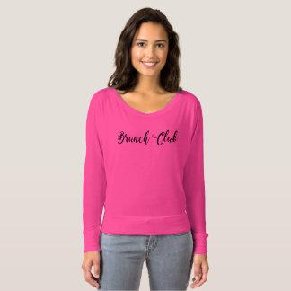 Club Flowy de brunch outre de chemise d'épaule T-shirt