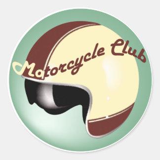club vintage de moto sticker rond