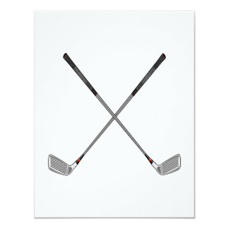 Clubs croisés carton d'invitation 10,79 cm x 13,97 cm