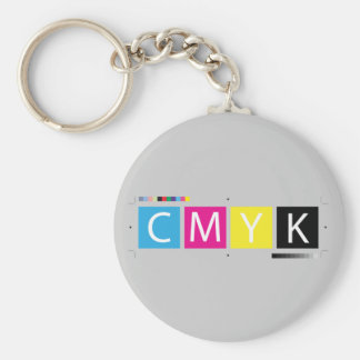 CMYK pré-compriment des couleurs Porte-clé Rond