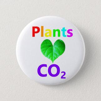 CO2 d'amour de plantes Badges