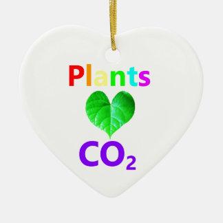 CO2 d'amour de plantes Ornement Cœur En Céramique