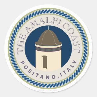 Coastr-Autocollant d'Amalfi Sticker Rond