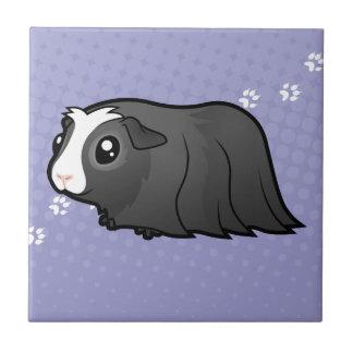 Cobaye de bande dessinée (longs cheveux) petit carreau carré