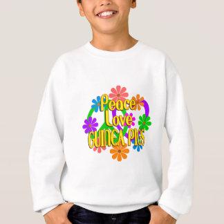Cobayes d'amour de paix sweatshirt