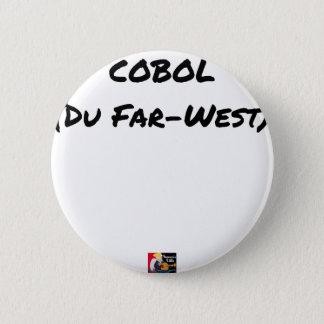 Cobol (Du Far-West) - Jeux de Mots- Francois Ville Badge