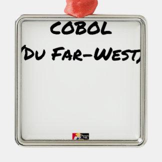 Cobol (Du Far-West) - Jeux de Mots- Francois Ville Ornement Carré Argenté