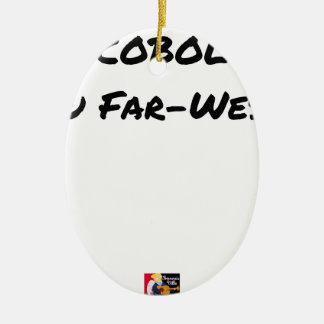 Cobol (Du Far-West) - Jeux de Mots- Francois Ville Ornement Ovale En Céramique