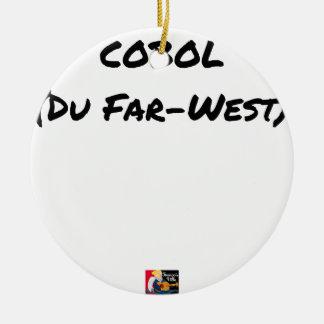 Cobol (Du Far-West) - Jeux de Mots- Francois Ville Ornement Rond En Céramique