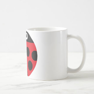 coccinelle 1 mug blanc