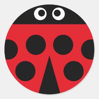 coccinelle 1 sticker rond