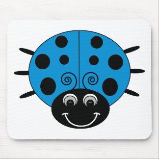 Coccinelle bleue Mousepad Tapis De Souris