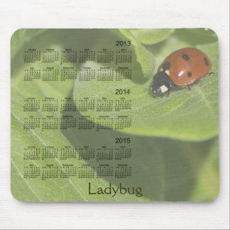 Coccinelle calendrier Mousepad de 3 ans 2013-2015 Tapis De Souris