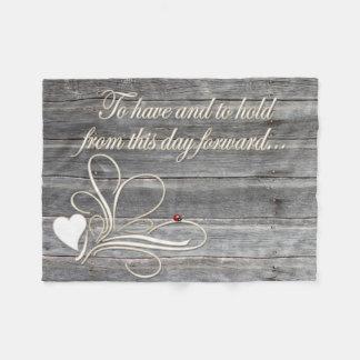 Coccinelle en bois de conception de coeur de voeux