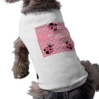 Coccinelle et pois roses t-shirt pour chien