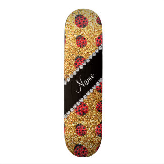 Coccinelle jaune en pastel nommée personnalisée de skateboards personnalisés