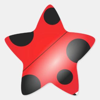 Coccinelle - Ladybird Sticker Étoile