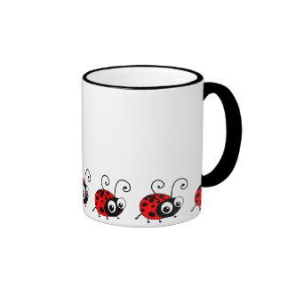 Coccinelle mignonne mug ringer