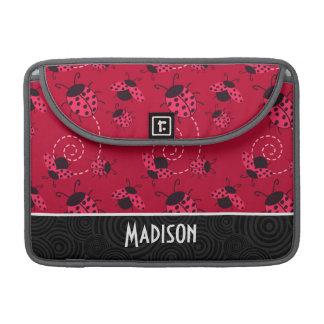 Coccinelle rose et noire mignonne housses MacBook pro