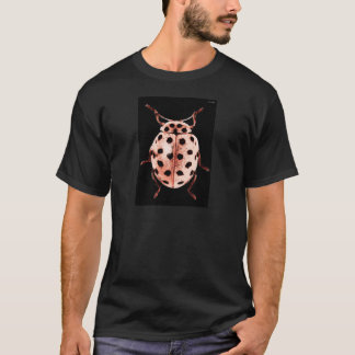 coccinelle rose fond black t-shirt