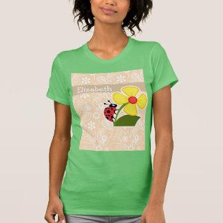 Coccinelle sur la couleur Paisley de bisque T-shirt