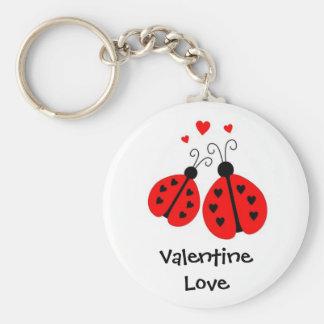 Coccinelles dans le porte - clé de Valentine Porte-clé Rond