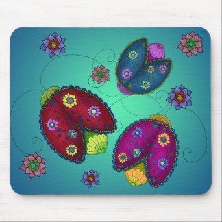 Coccinelles florales Mousepad Tapis De Souris