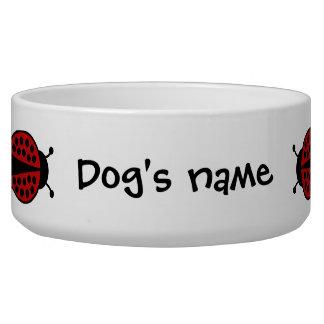 Coccinelles mignonnes bol pour chien