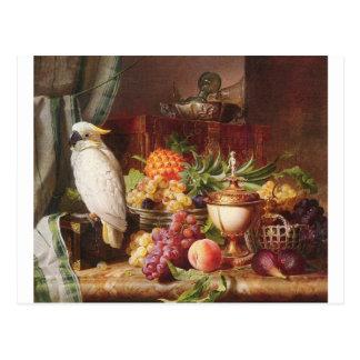 Cockatiel exotique d'oiseau de fruit de perroquet cartes postales