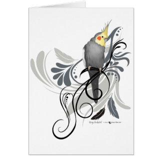 Cockatiel gris carte de vœux
