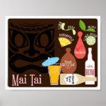 Cocktail de barre de l'AMI Tai Tiki Poster