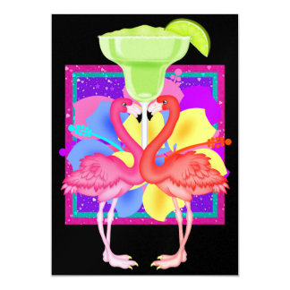 Cocktail de flamant - SRF Carton D'invitation 12,7 Cm X 17,78 Cm