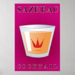 Cocktail de Sazerac Affiches