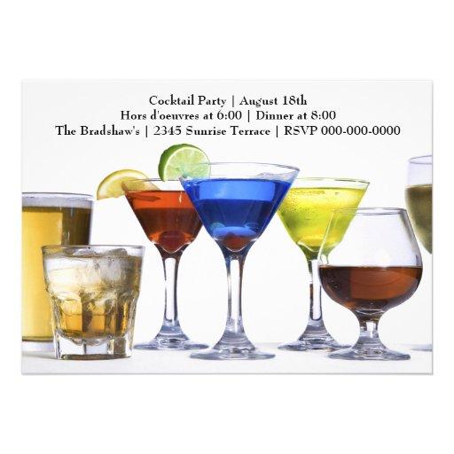 Cocktail moderne de cocktails faire-part
