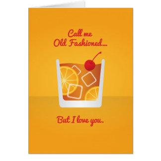 Cocktail Valentine : Appelez-moi démodé Carte De Vœux