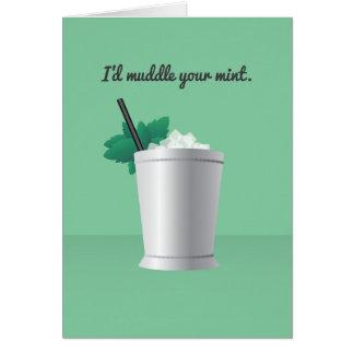 Cocktail Valentine : J'embrouillerais votre menthe Carte De Vœux