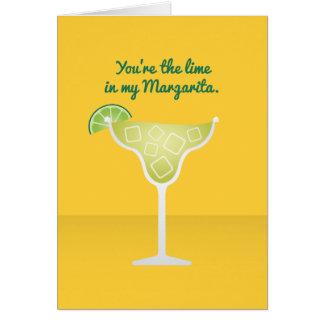 Cocktail Valentine : La chaux en ma margarita Carte De Vœux