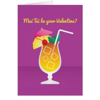 Cocktail Valentine : L'AMI Tai soit vous Valentine Cartes