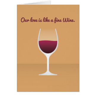 Cocktail Valentine : Notre amour est comme un vin Cartes
