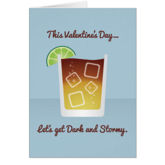 Cocktail Valentine : Obtenons foncés et orageux Cartes
