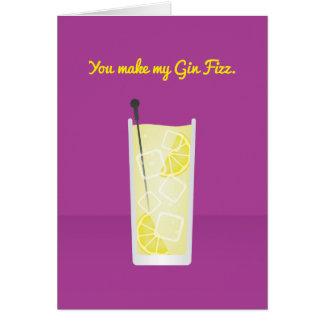 Cocktail Valentine : Vous faites mon genièvre Carte De Vœux