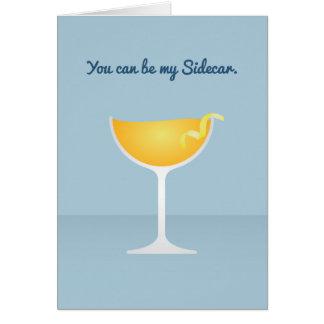 Cocktail Valentine : Vous pouvez être mon sidecar Cartes